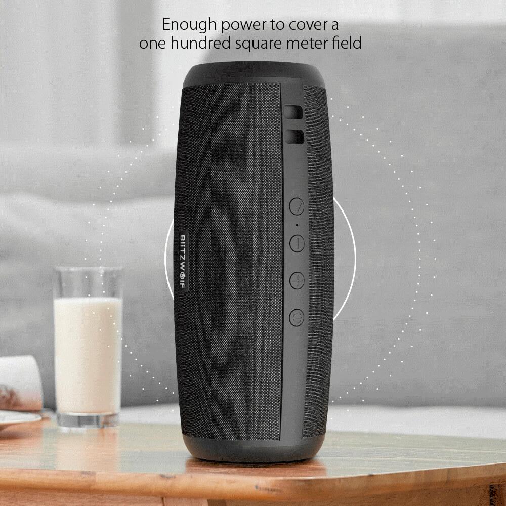 BlitzWolf® BW-WA1: 1200mAh vezeték nélküli Bluetooth hangszóró 360°-os térhatással