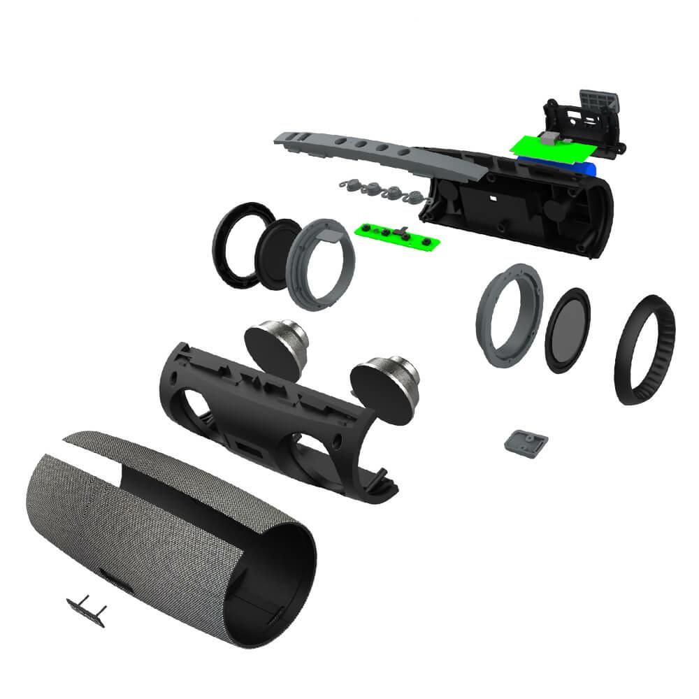 BlitzWolf® BW-WA1: 1200mAh vezeték nélküli Bluetooth hangszóró kettős passzív membránnal