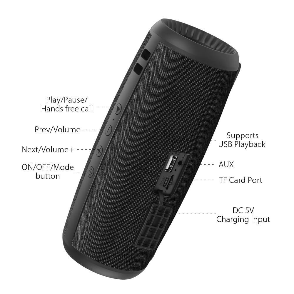 BlitzWolf® BW-WA1: 1200mAh vezeték nélküli Bluetooth hangszóró széles csatlakozási lehetőséggel