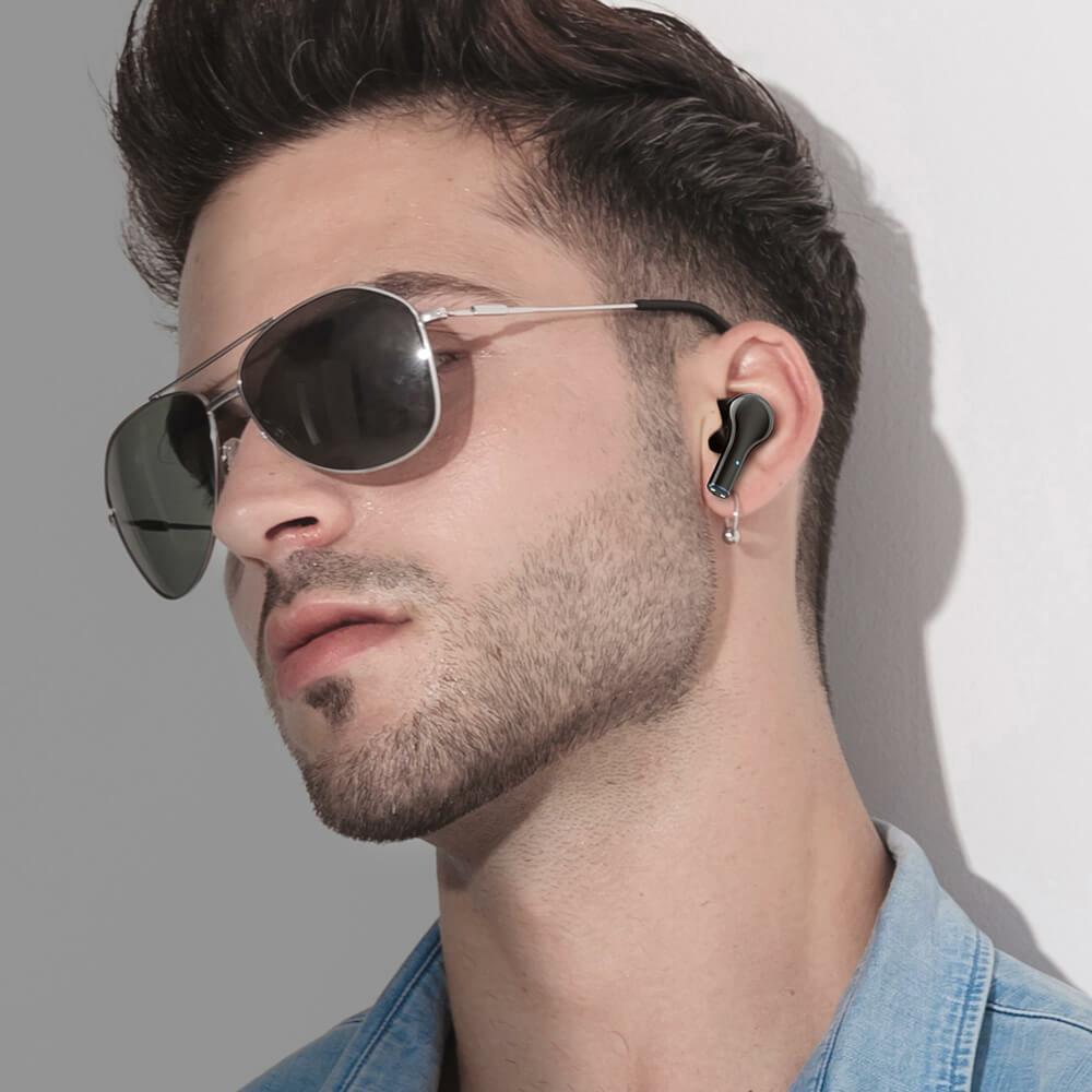 bw-fye9 half-in-ear rövid szárral és ergonomikus kialakítással
